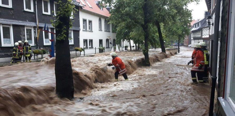 Partnerské město Goslar bojuje s povodní 1