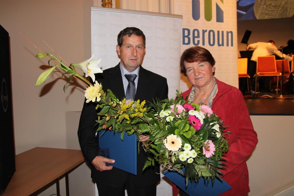 Cena města Beroun pro Marii Holečkovou a Karla Žáka 1